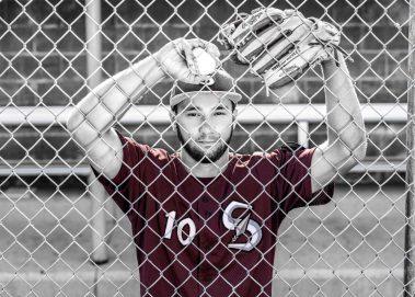 senior baseball player