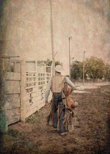 cowboy walking away