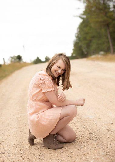 senior girl on path