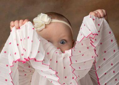baby girl peek a boo