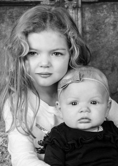 sibling girls not smiling