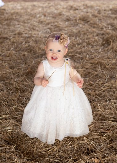 baby in straw