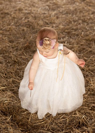 baby wearing dream catcher